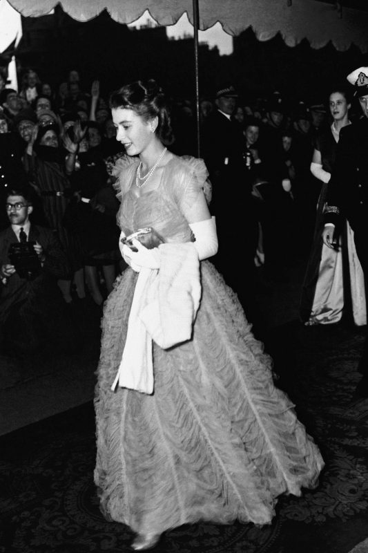 Queen Elizabeth in Edinburgh, 1947