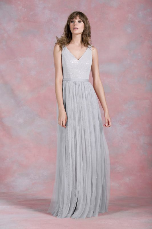 kelsey rose 50166 bridesmaids dress in grey platinum