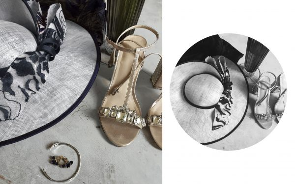 John Charles mother of the bride navy Summer 2016 outfit with gold heels